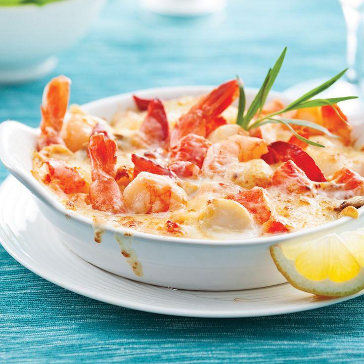 Gratin de fruits de mer thermidor - Recettes - Cuisine et nutrition - Pratico Pratique