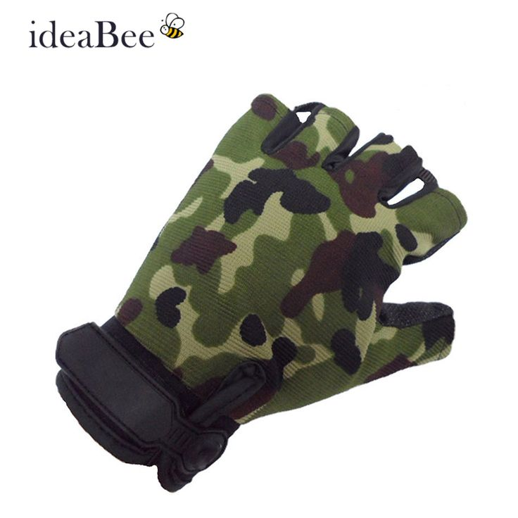 ideaBee Outdoor Driving Tactical Exercise Half Finger Fitness Gloves Sports Fingerless Microfiber Mens