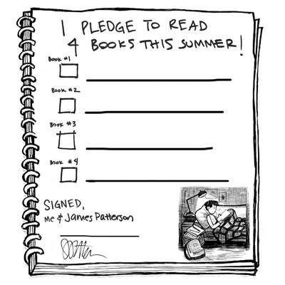 Will your kids pledge to read FOUR books this summer?    Print out the summer reading pledge and have your kids track their progress!