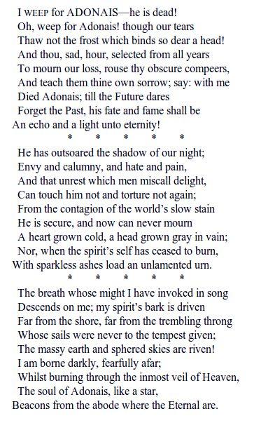 List Of Famous Elegy Poems | Textpoems org