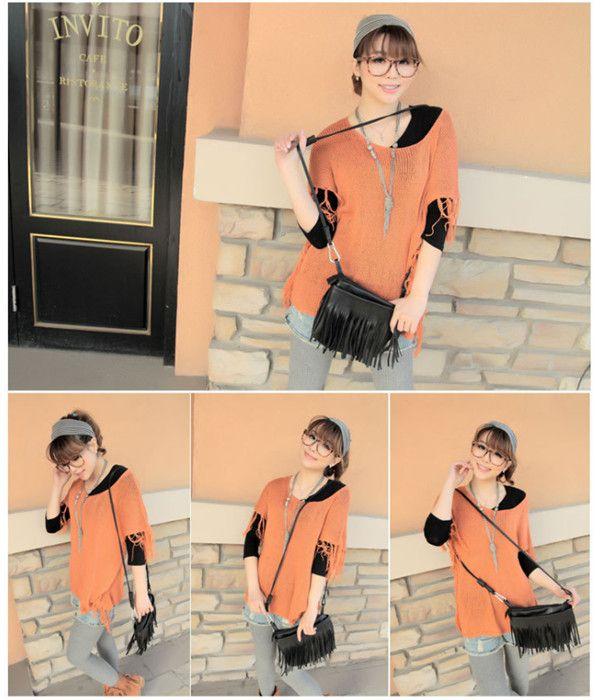 Европейский и американский стиль мода очаровательны кисточкой женщины леди сумка ручной стиль ранец кошелек сумки 1 шт. купить на AliExpress