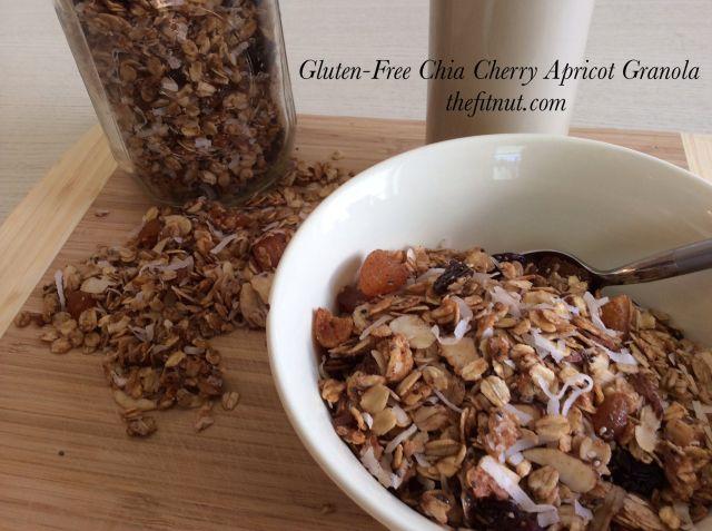 Gluten Free Chia Cherry Apricot Granola | The Fit Nut
