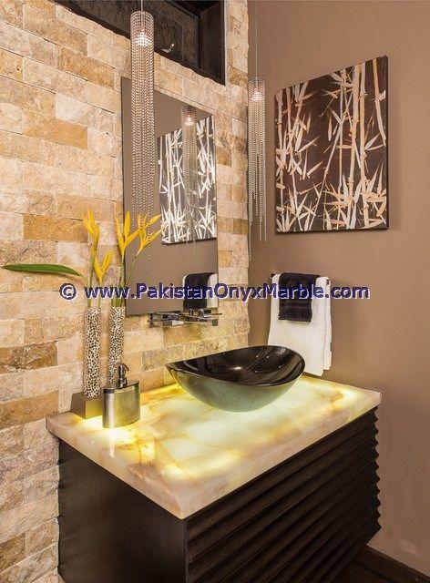 Best ONYX BATHROOM COUNTERTOPS Images On Pinterest Bathroom - Onyx bathroom vanity tops