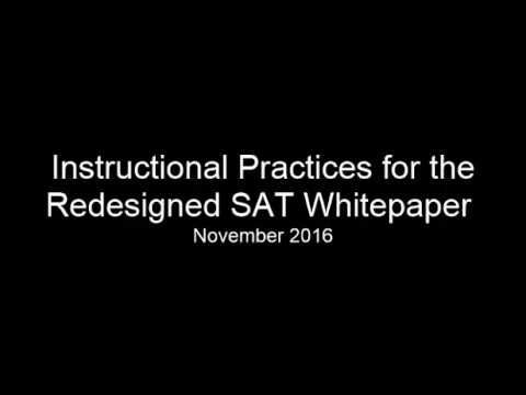 The Statewide ELA SAT Task Force Team developed this document to support students' success on the SAT, and to build the literacy skills that students need fo...