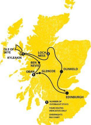 Haggis Tours Highland Fling - Tour Map