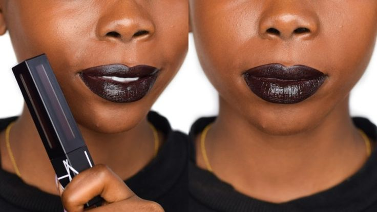 NARS Paint It Black Powermatte Lip Pigment - Review and Dark Skin Swatch - Epiphanniea.co.uk - Black Lipstick - @Epiphanniea