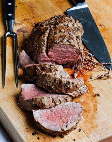 Ina Garten balsamic tenderloin roast.