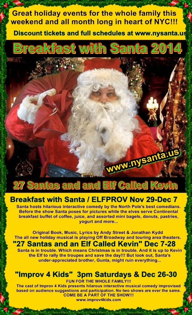NYC SANTA is coming to town www.nysanta.us for discount tickets and more information
