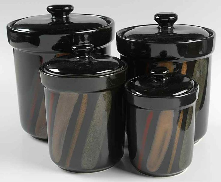 324 best images about canister and canister sets on vintage black and white ceramic canister set holiday designs