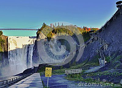 Montmorency falls in Quebec - view from the lower lookout.