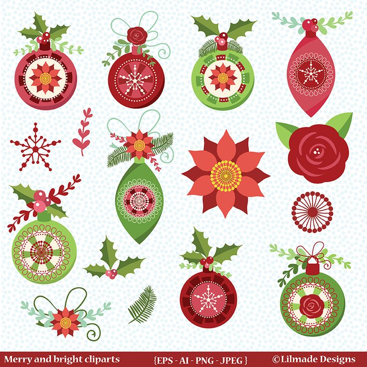 Christmas ornaments vector clipart just uploaded to my Etsy store! Fully customizable EPS 8 vector files where you can change colors to match your project and use over and over.I Hope you like it! You can find it here: https://www.etsy.com/listing/573768081  #clipart #commercialuseclipart #christmasclipart #christmasornamentsclipart