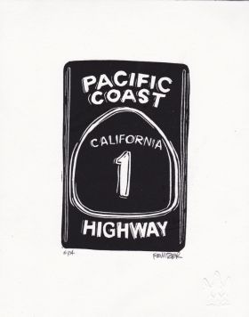 Pacific Coast Linocut Eric Rewitzer