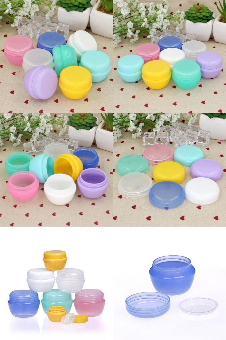 [Visit to Buy] 5Pcs/Lot Mini Empty Jar Pots Cosmetic Makeup Inner Lid Face Cream Lip Balm Container My Refillable Bottles Wholesale #Advertisement