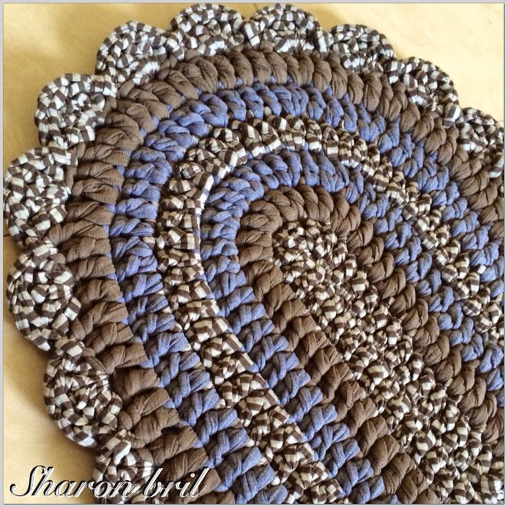 26 Best Crocheted Oval Rag Rugs Images On Pinterest