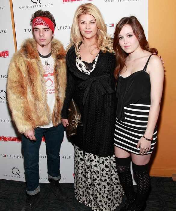 Kirstie Alley with the two children she adopted with ...
