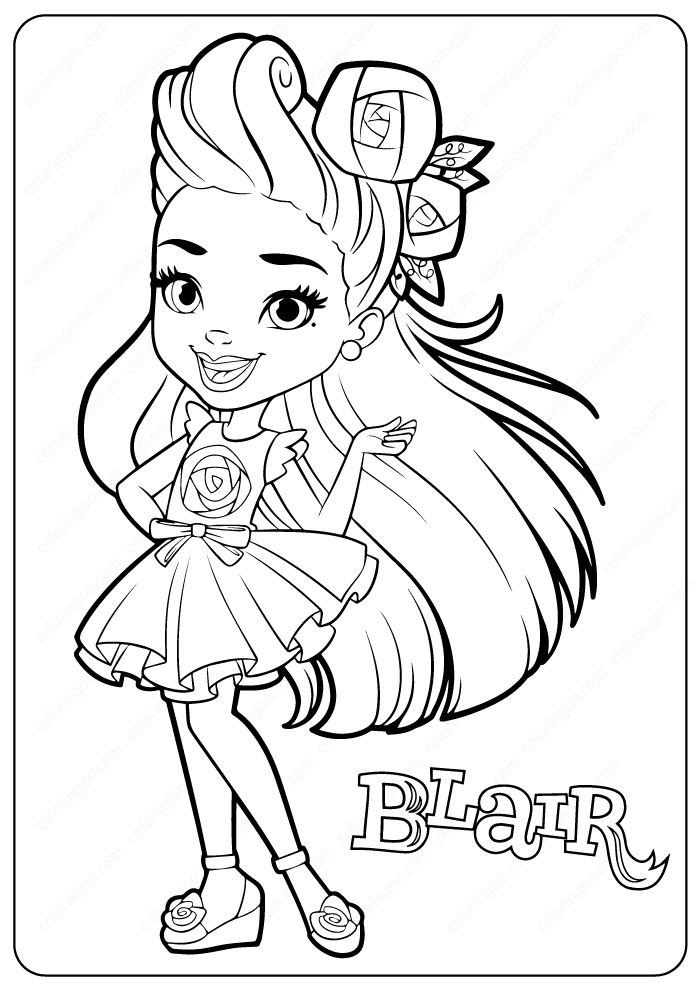 Blair Sunny Day Coloring Pages #blair #sunnyday #coloring ...