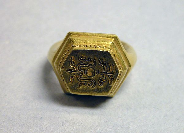 """Ring with Hexagonal Bezel and """"Sri"""" Inscription Period: late Central Javanese period Date: Second half of the 9th–first quarter of the 10th century Culture: Indonesia (Java)"""