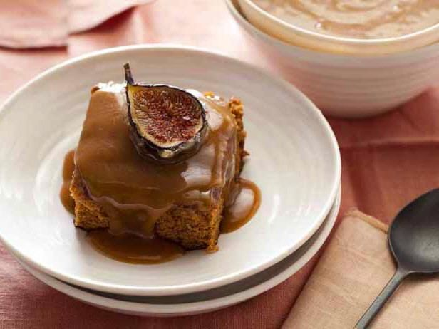 Get Sticky Fig Pudding with Candied Fresh Figs Recipe from Cooking Channel