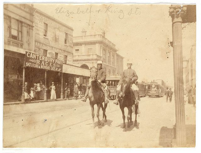 King and Elizabeth Street corner from Sydney, 1890 / photographed by Arthur K. Syer | Flickr - Photo Sharing!