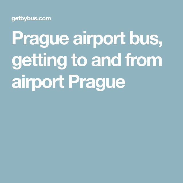 Prague airport bus, getting to and from airport Prague