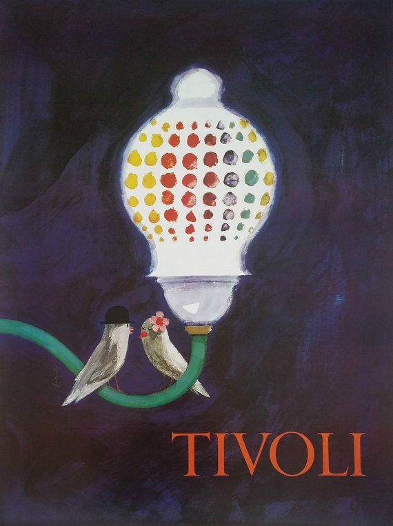 1968 Tivoli Gardens by Ib Antoni - Original Vintage poster  Tivoli gardens a...