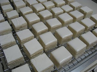 petit fours - this is step 1 before they are decorated.