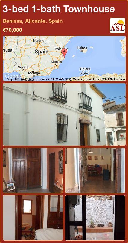 3-bed 1-bath Townhouse in Benissa, Alicante, Spain ►€70,000 #PropertyForSaleInSpain