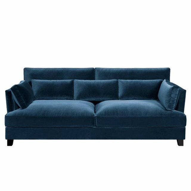 25 best ideas about canap de velours bleu sur pinterest canap en velours bleu sofa en. Black Bedroom Furniture Sets. Home Design Ideas