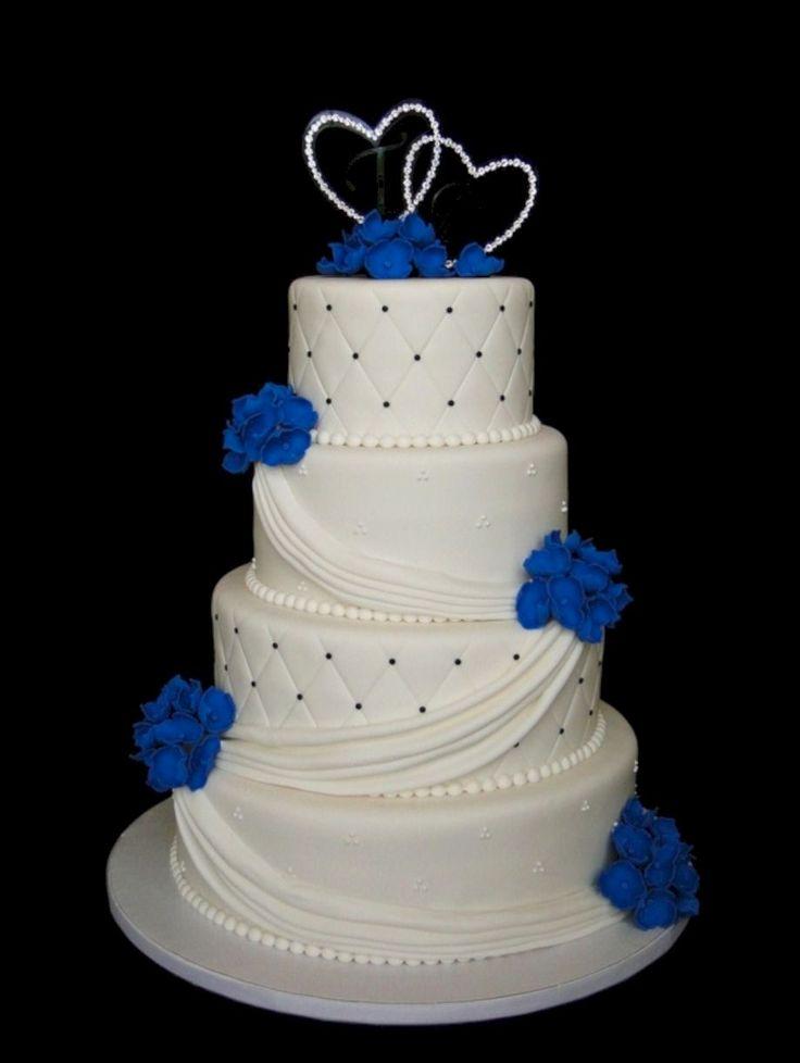 19 stunning royal blue wedding cake designs royal blue wedding cakes blue wedding cakes and. Black Bedroom Furniture Sets. Home Design Ideas