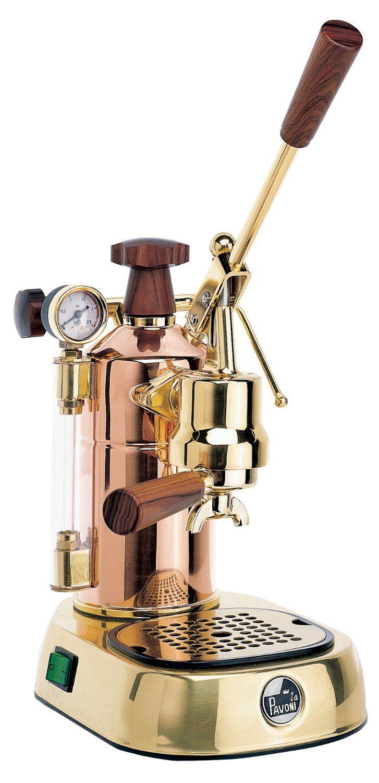 La Pavoni PRH Professional Coffee Machine, Copper/ Brass/ Wood: Amazon.co.uk: Kitchen & Home