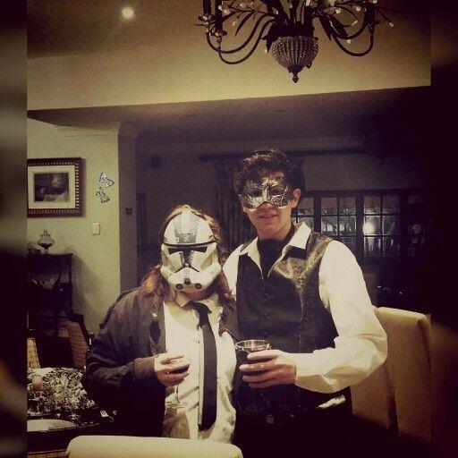 John The Greek's 21st Masked Ball. #goodtimes #memories #stormtrooper #vampire #blacktie #formalball #starwars #21st