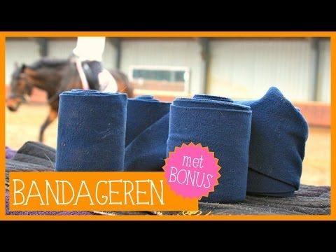 Bandages omdoen | PaardenpraatTV - YouTube