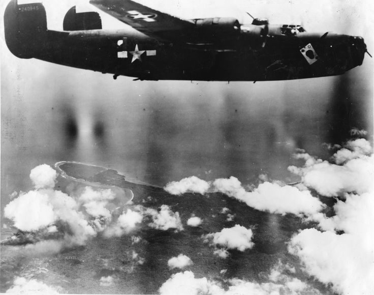 43rd Bomb Group Ace O' Spades Ace O' Spades B-24 43rd Bomb Group 403rd Squadron Serial #42-40945 PH00006323 (Frederick German Collection)