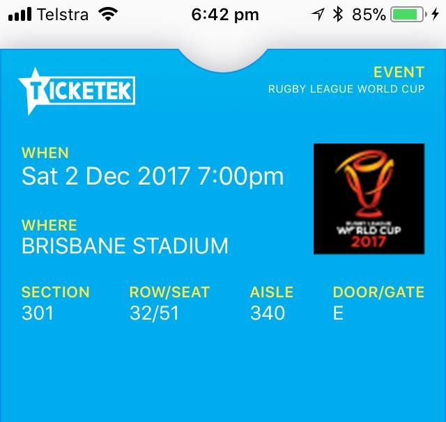 Rugby tickets $ 200 for 2 tickets  Great seats  Saturday night 2 nd December #rangloo, #bar, #accessories