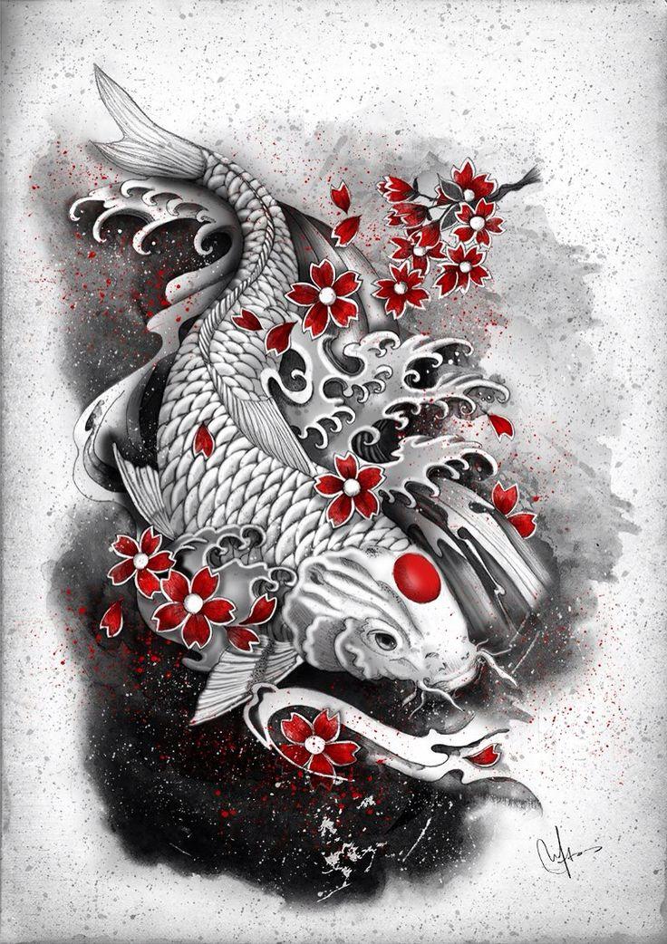 29 best irezumi images on pinterest japan tattoo tattoo for Koi fish representation