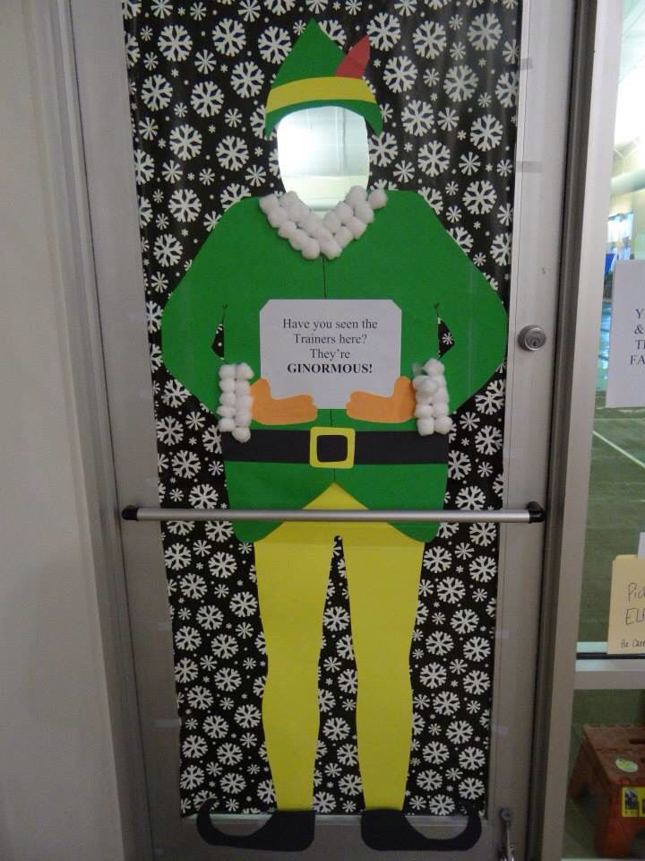 Best 25 christmas door decorations ideas on pinterest for Elf door and elf
