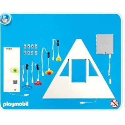 Playmobil Lighting Set 1 by Playmobil. $79.99. 9.8 x 11.8 x 2 inches. This item is part of the Direct Service range. This range of products are intended as accessories for or additions to existing Playmobil sets. For this reason these items come in clear plastic bags or brown cardboard boxes instead of a colorful retail box.. For Suburban House #4279 only.