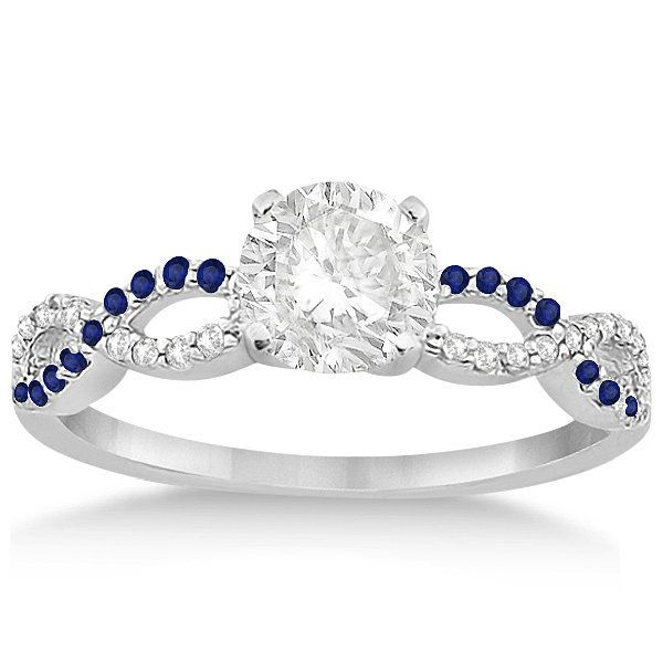 Libra, there's no denying that blue is your color. But not just any blue. Your favored shade is somewhere in between royal and deep navy, so you have a strong liking for sapphires. Because you love the look of something balanced, diamonds and stones set in a braided band is the epitome of perfection.
