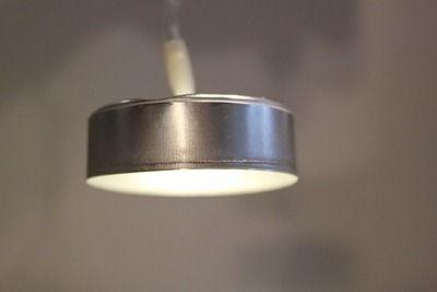 Turn a used-up tea light holder into a modern overhead light