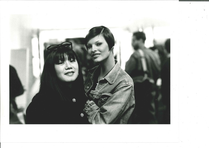 Anna Sui and Linda Evangelista