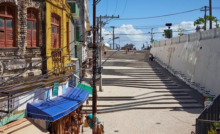 Escalera a Salvador: El metro Arquitetos crea una ruta y una destinación - Ladeira da Barroquinha - Dois de Julho, Salvador - BA, Brazil
