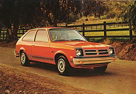 Denise's first car, an orange Chevette.  She was so good with a standard transmission.  Sure didn't inherit that from me!