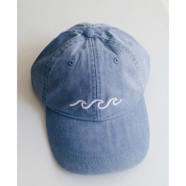 Three Waves Baseball Cap Periwinkle (24 CHF) ❤ liked on Polyvore featuring accessories, hats, embroidered baseball hats, baseball cap hats, embroidery hats, baseball hats and baseball caps