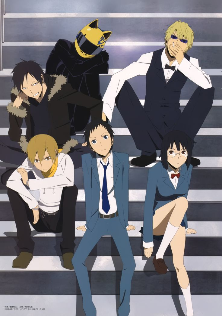 Durarara. just started watching this it's pretty good :)