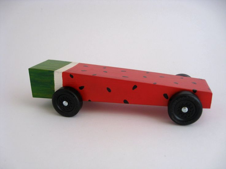 watermelon pinewood derby car for awana grand prix