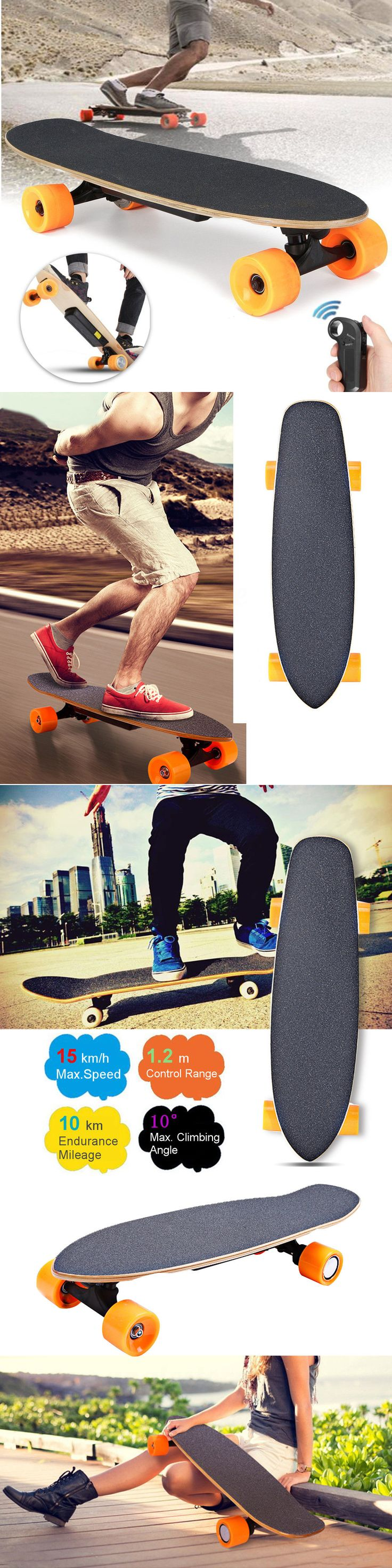 Skateboards-Complete 16264: 250W Electric Skateboard Longboard Skate Board Scooter Wireless Remote Control -> BUY IT NOW ONLY: $142.55 on eBay!