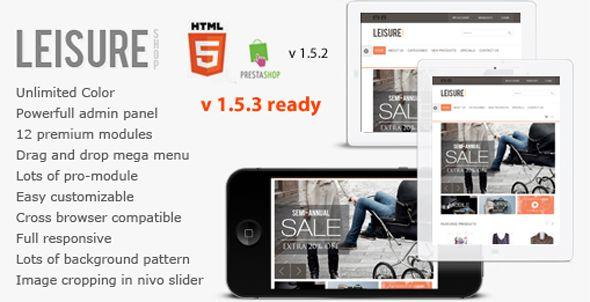 Leisure - Responsive HTML5 Prestashop Theme