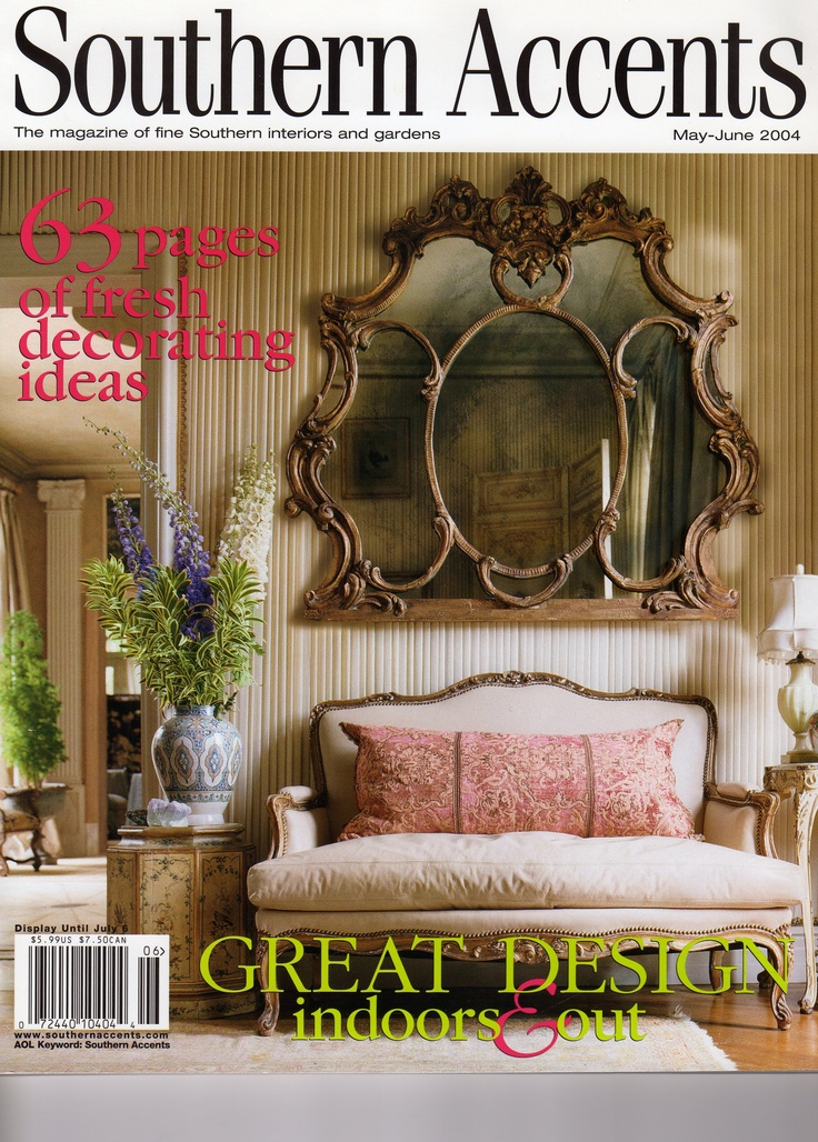 French Connection Southern Accents May June 2004 Interior Design By John Bobbitt