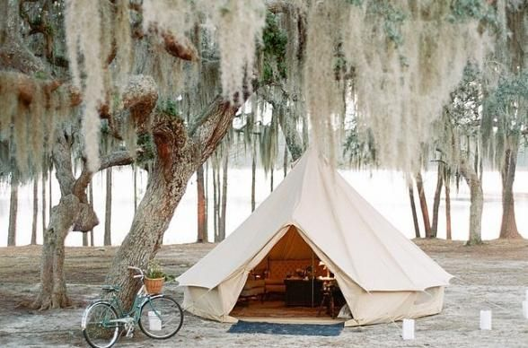 Host a heck-of-an-event in an unpopulated place by simply popping-up these stunning Shelter Co. tipis.