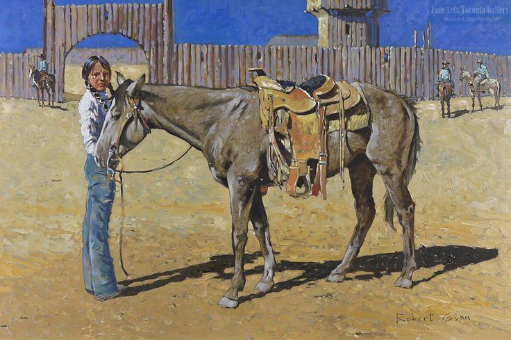 """Transportation"" (1972) by Robert Genn. Oil on canvas (24"" x 36"" unframed)"
